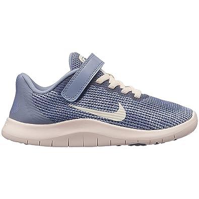 Nike Girl's Flex RN 2018 Running Shoe Ashen SlateGuava IceDiffused Blue Size 3 M US