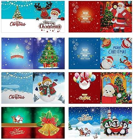 Demiawaking 8pcs Biglietti di Auguri Natalizi Fatti a Mano Inviti per Feste  di Natale Fai da te 5D Diamond Painting Biglietti Natalizi con Buste Vuote  per Compleanno Natale (Stile c): Amazon.it: Cancelleria