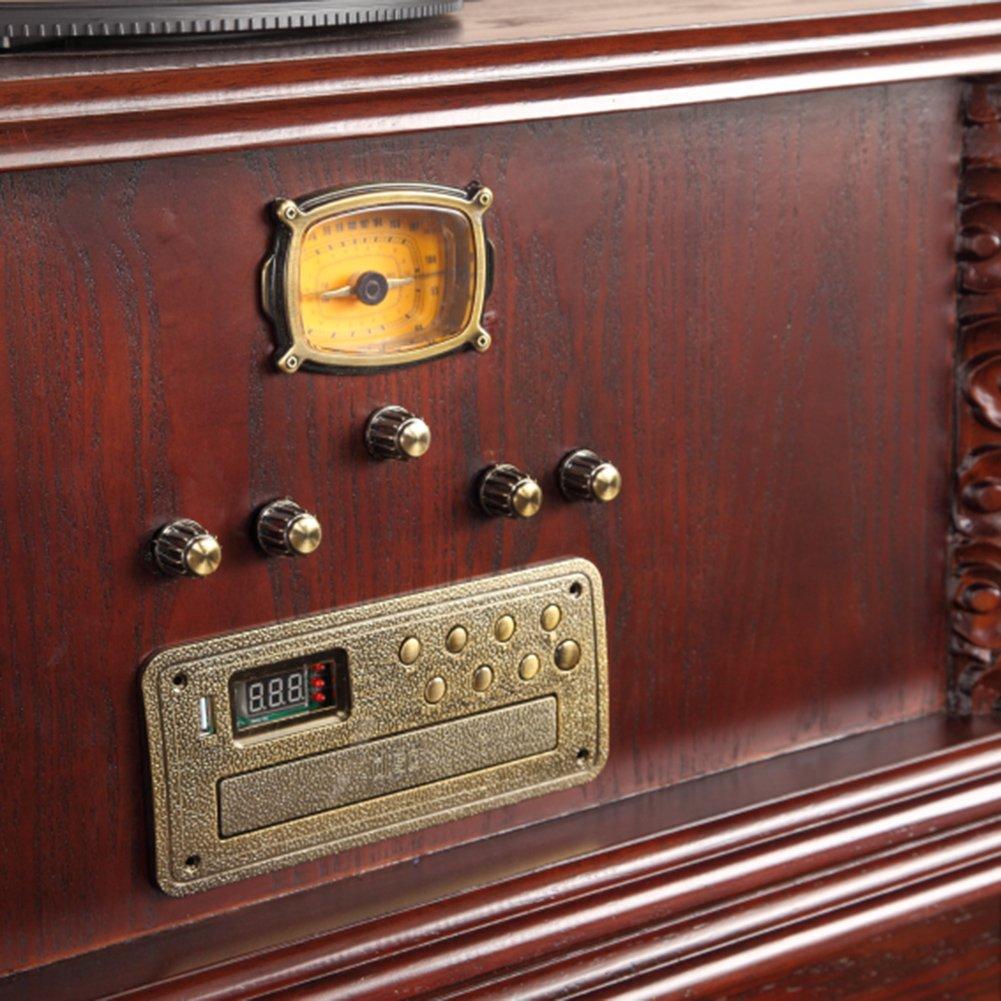 Sitang Antigüedades disco de gramófono reproductor de vinilo tocadiscos vieja radio clásicos efectos de sonido potente MLG6188C