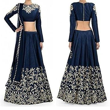 01a3cabb14 Designer Party Wear Indian Wedding Sari Ethnic Bridal bollywood Lehenga  Choli: Amazon.co.uk: Clothing
