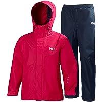 Helly Hansen JR Duro Packable Set - Conjunto con Chaqueta y pantalón para niños, Color Azul