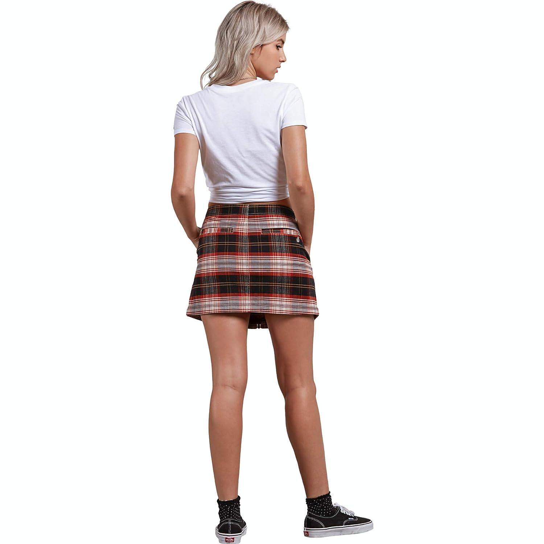 Volcom Womens Frochickie Classic Plaid Mini Skirt