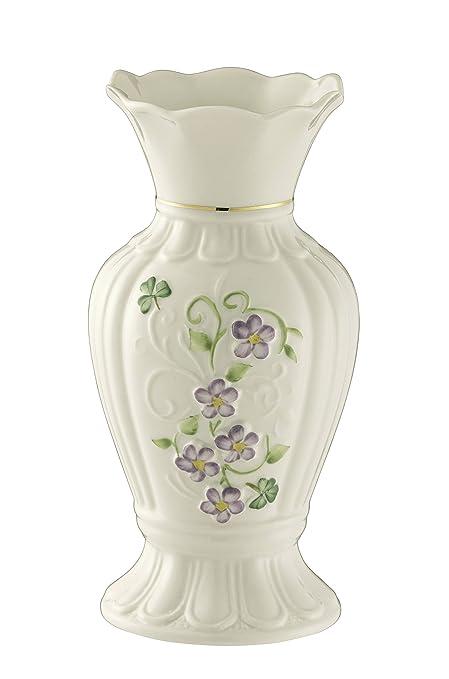 Amazon Belleek Pottery Floral Irish Flax Vase Home Kitchen