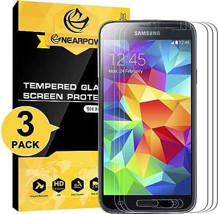 NEARPOW [3 Pack Protector de Pantalla para Samsung Galaxy S5 ...