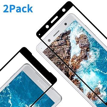 Vkaiy Protector de Pantalla para Sony Xperia XZ2 Compact, Cristal Templado para Xperia XZ2 Compact, Cobertura Completa, 9H Dureza, Anti Dactilares, ...