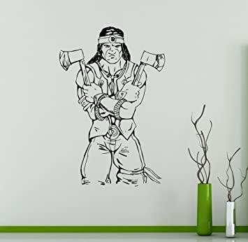 Nightwolf Wall Vinyl Decal Mortal Kombat Sticker Fighting Games Home Interior Living Room Removable Decor