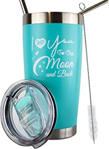 I Love You To The Moon And Back Mug, I Love You Gifts For Her, I Love You Gifts For Men, Gifts For Wife From Husband, Love Gifts For Girlfriend, I Love You Coffee Mug, 20 Oz Travel Mug