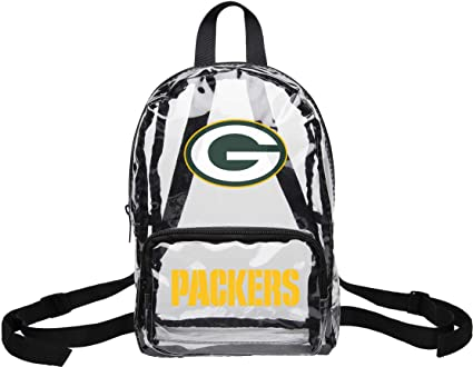 82e788dcab89 Image Unavailable. Image not available for. Color  FOCO NFL Clear Mini  Backpack Green Bay Packers