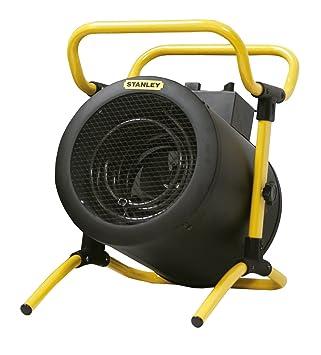 K2Calore KT0511 - Calefactor Industrial Eléctrico Kovyx Stanley Turbo 5000 W. resistencia de acero y termostato, potencia y cuerpo regulables (36 x 34 x 44 ...