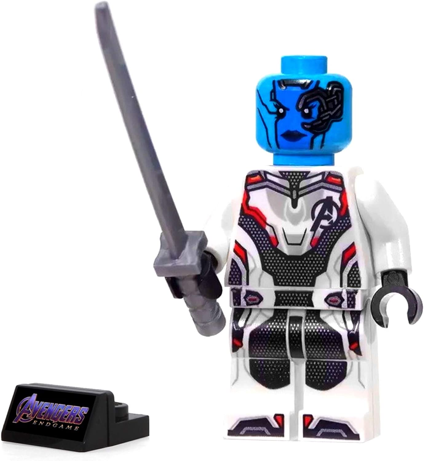 LEGO Super Heroes Avengers Endgame MiniFigure - Nebula (with White Jumpsuit and Sword) 76131