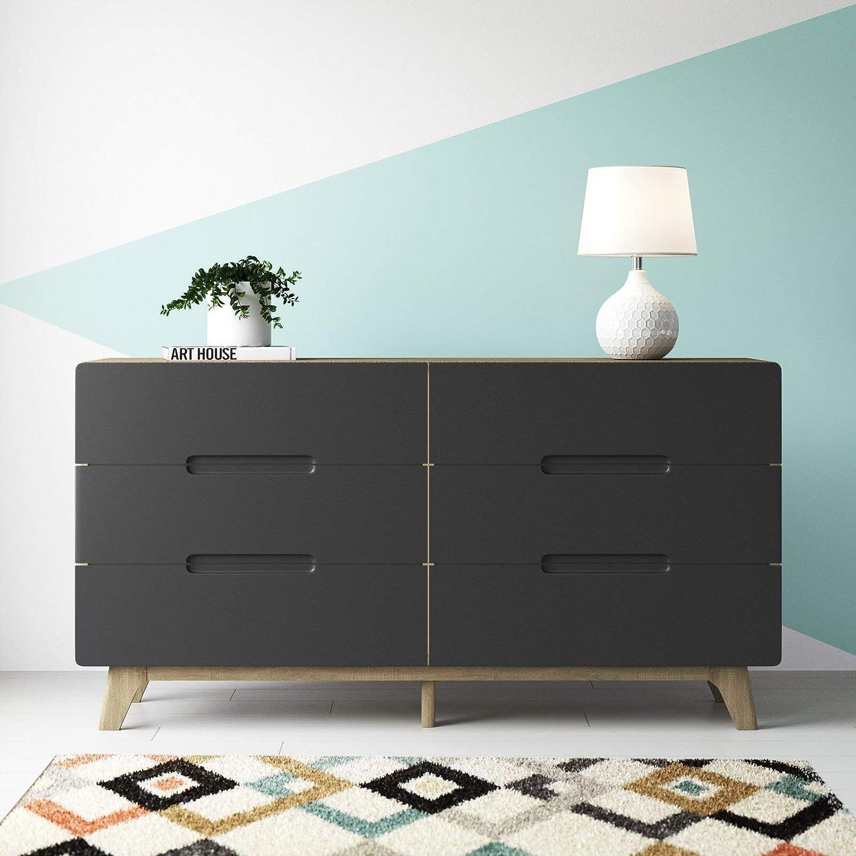 Conrad Wood 6 Drawer Double Dresser