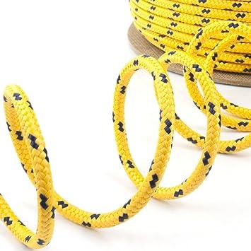 6mm gelb 100m Flechtleine,Seil,Festmacher,Tauwerk,Reepschnur,Leine,Schnur TOP
