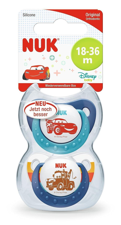 NUK Disney Pixar Cars Trend Line Chupete, kiefergerechte Forma, 2 ...