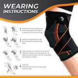 Kamileo Knee Brace, Knee Sleeve with Support Straps for Joint Pain Arthritis Relief