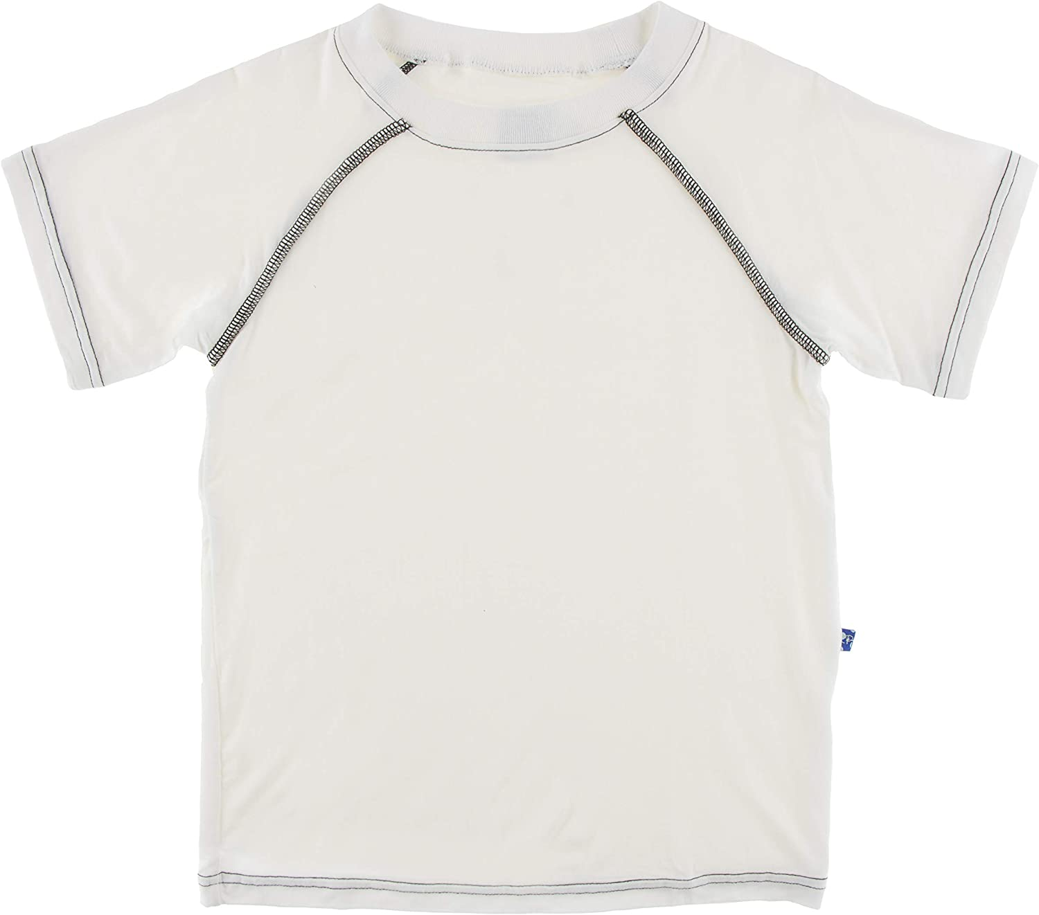 KicKee Pants Solid Sport Tee in Natural with Zebra S-6//8