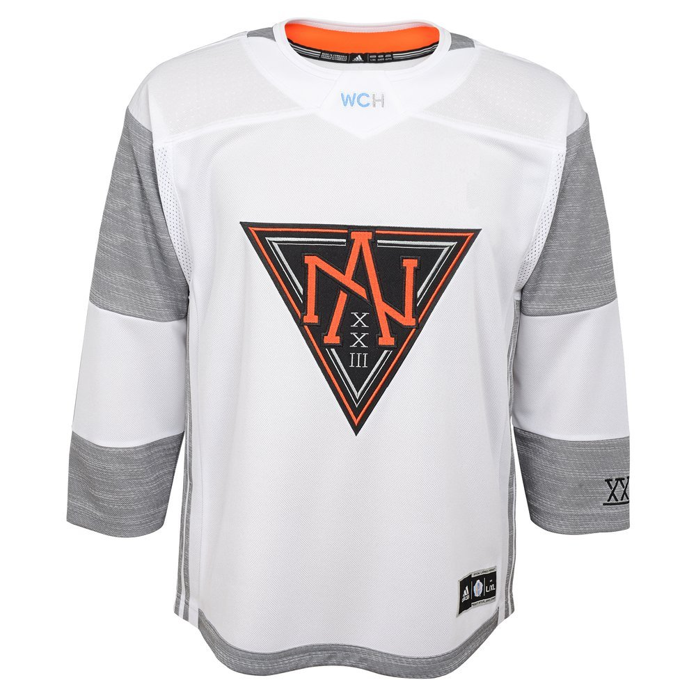 North America World Cup Of Hockey Youth White Adidas Preminer Jersey