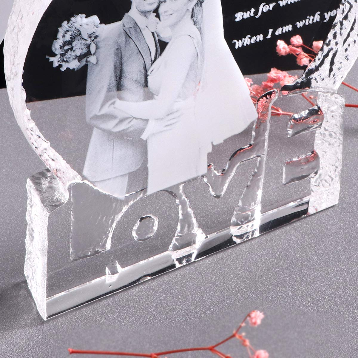 YWHL Custom Photo Wedding Anniversary Sculpture