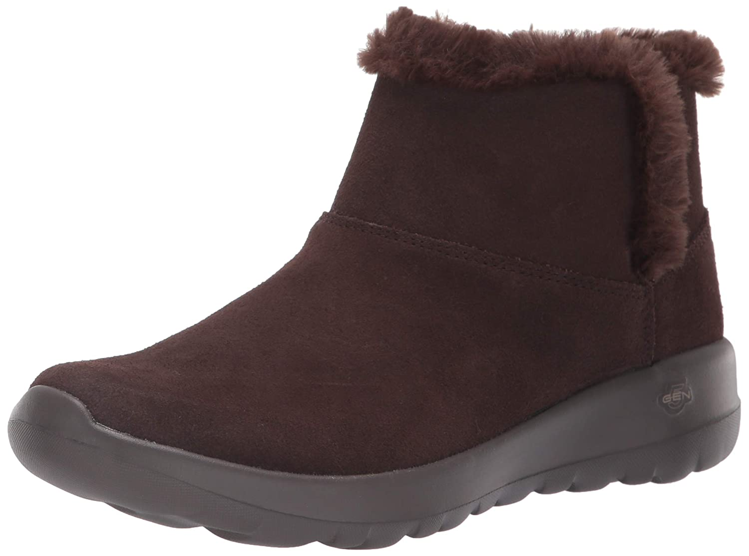 Skechers Damen On-The-go-Bundle Up Kurzschaft Stiefel, anthrazit Schokoladenbraun