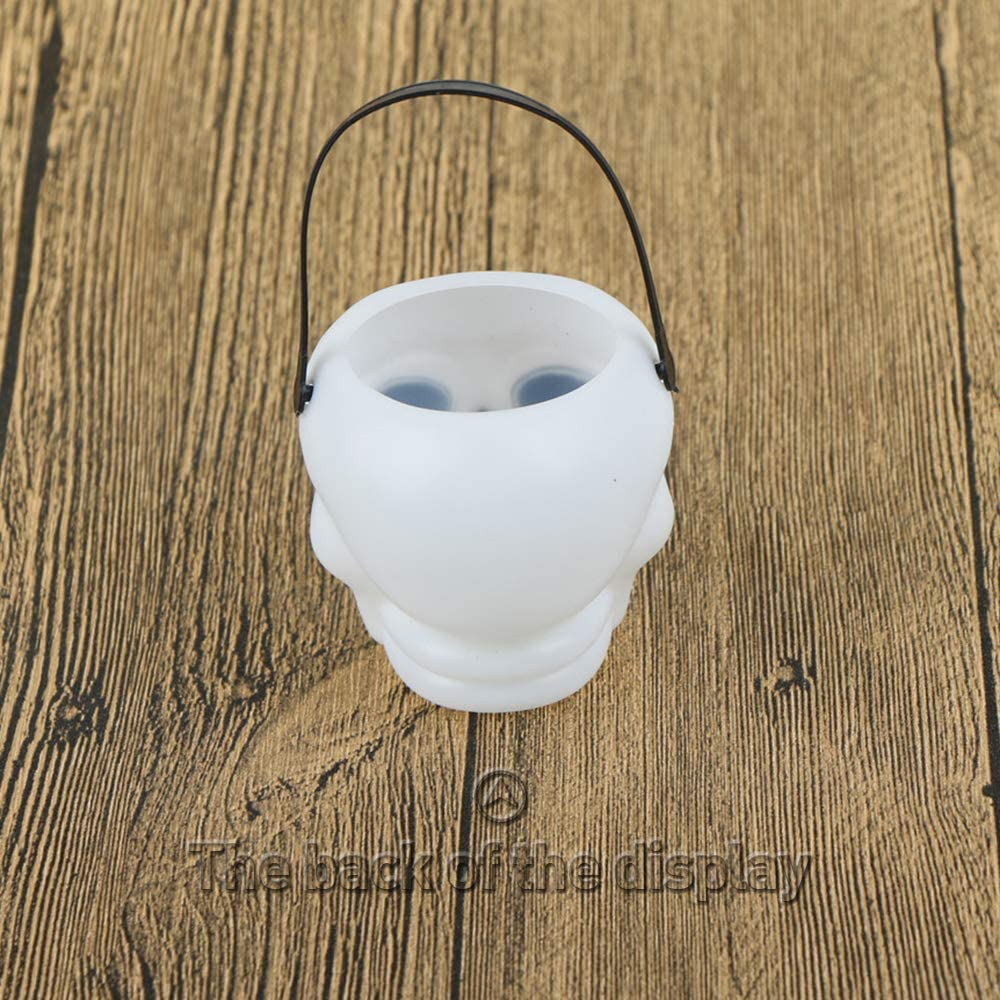 VEVICE Witch bucket Skull Barrels Candy Cookies Holders for Halloween Decoration