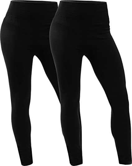 WOMEN/'S BLACK//WHITE FLEECE LINED LEGGINGS ASSORTED SIZES NEW WITH TAGS FREE SHIP