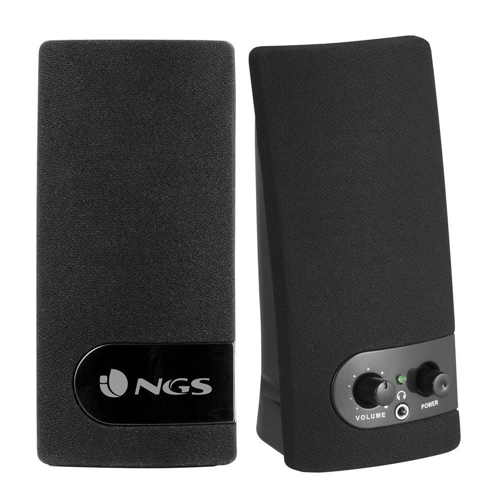 NGS Soundband 150 - Altavoces de ordenador de 2 W (3.5 mm, USB), negro y plateado 290034