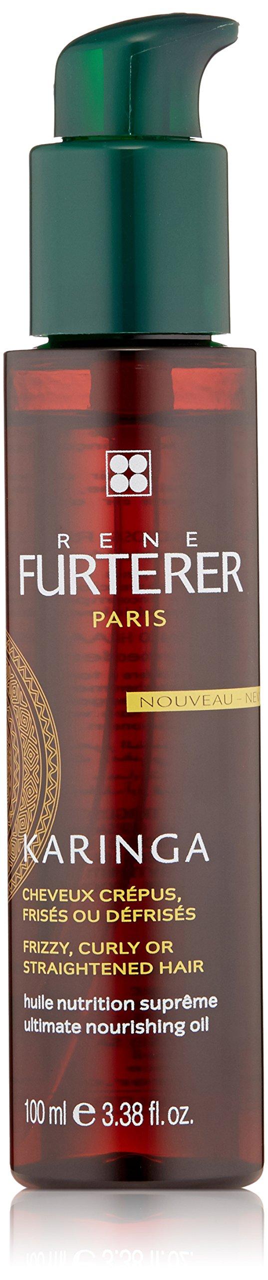 Rene Furterer KARINGA Ultimate Nourishing Oil, Frizzy, Coarse, Texture Hair, Shea Butter, Argan Oil, 3.3 oz.