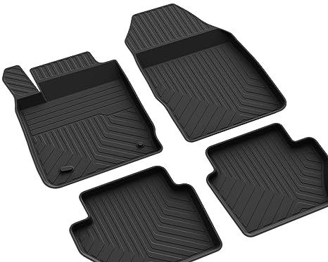 Gummi Fußmatten Gummimatten mit hohem Rand passend für Ford Fiesta JA8 ab 2013