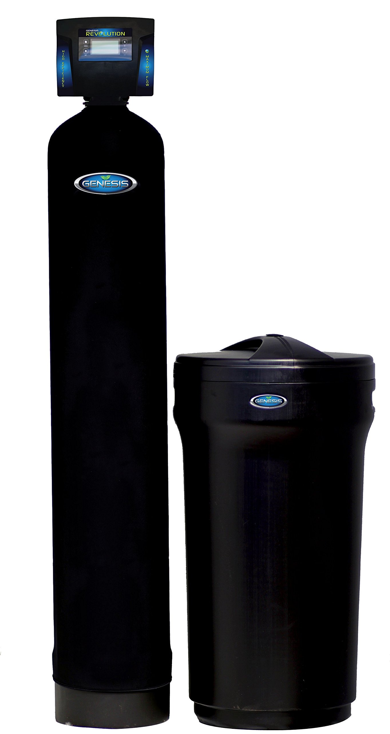 Discount Water Softeners Revolution 64,000 Grain Water Softener – Digital Metered -Maximum Flow Rate, High Efficiency Up Flow