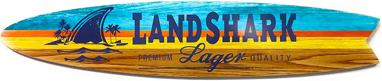 Fin Style Surfboard Landshark Sign - 4 Foot
