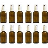 Apotheker-Sprühflasche aus Braunglas Zerstäubereffekt 5 teilig   Füllmenge 50 ml   Fingerzerstäuber Sprühflaschen Pumpsprüher kleine Glasflaschen Parfümzerstäuber Made in Germany