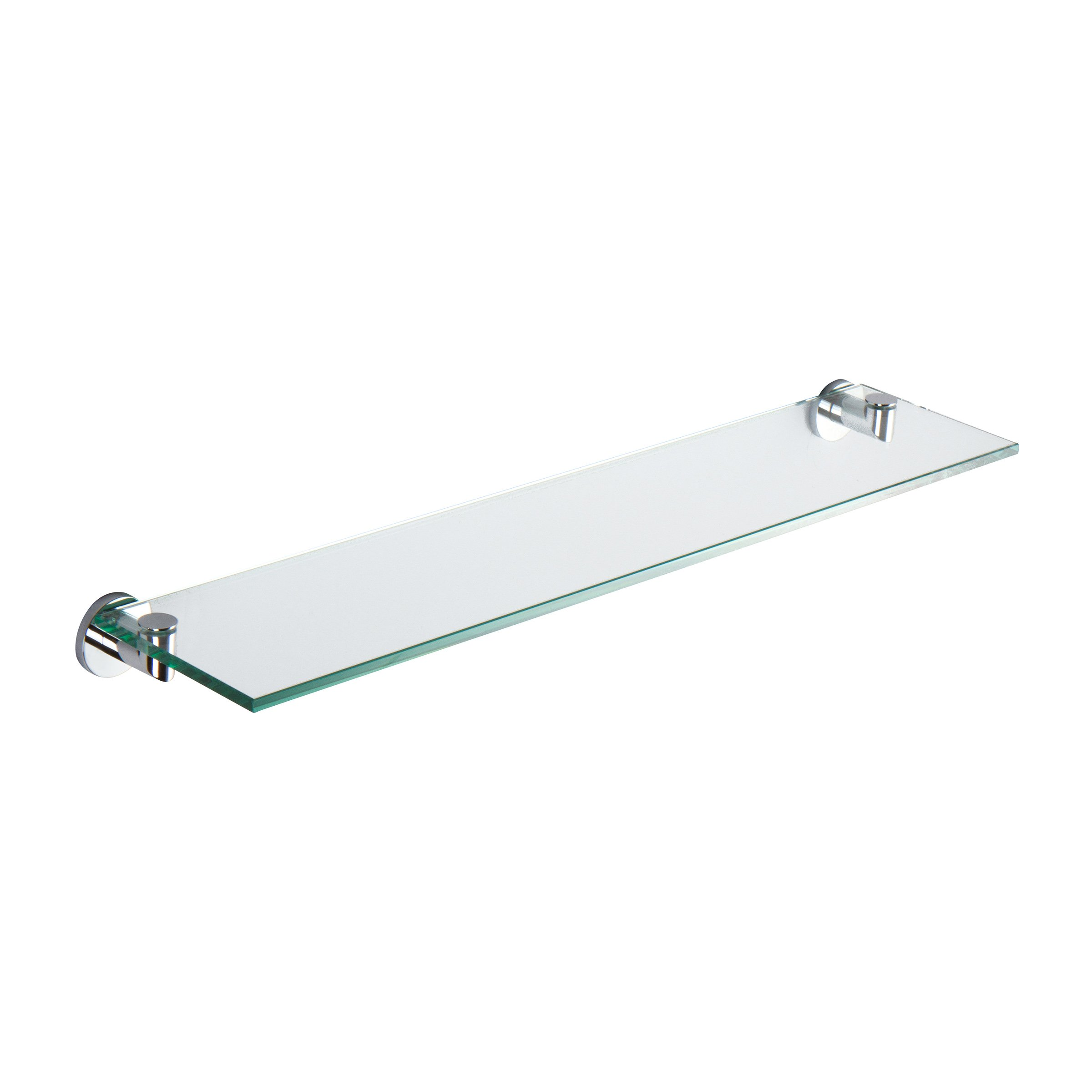 Ginger 4634T/PC Kubic 24'' Glass Shelf, Polished Chrome