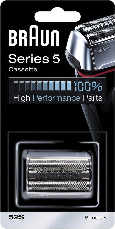 Braun Cassette 52S - Recambio para afeitadora eléctrica hombre, compatible con generación actual de Series 5 y antigua: Amazon.es: Salud y cuidado personal
