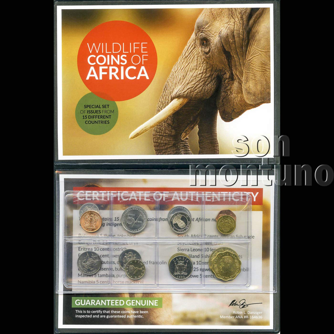 WILDLIFE COINS OF AFRICA Collection of 15 Uncirculated Legal Tender Coins from 15 Different African Nations Comes in Beautiful Folder with Certificate of Authenticity /& Identifier List GREAT SET FOR All Featuring Images of Their Indigenous Wildlife