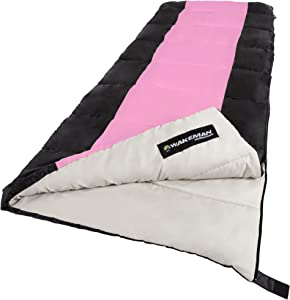 Wakeman Outdoors Sleeping Bag-Lightweight, Carrying Bag with Compression Straps Included-Great for Adults