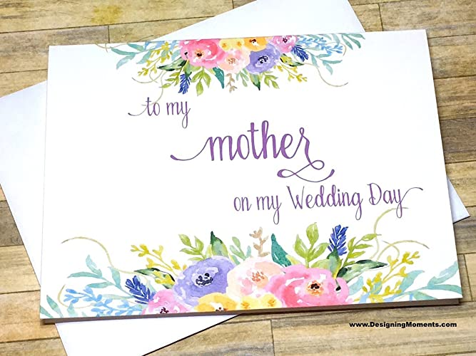 Amazoncom To my Mother on my Wedding Day Card Wedding Card for