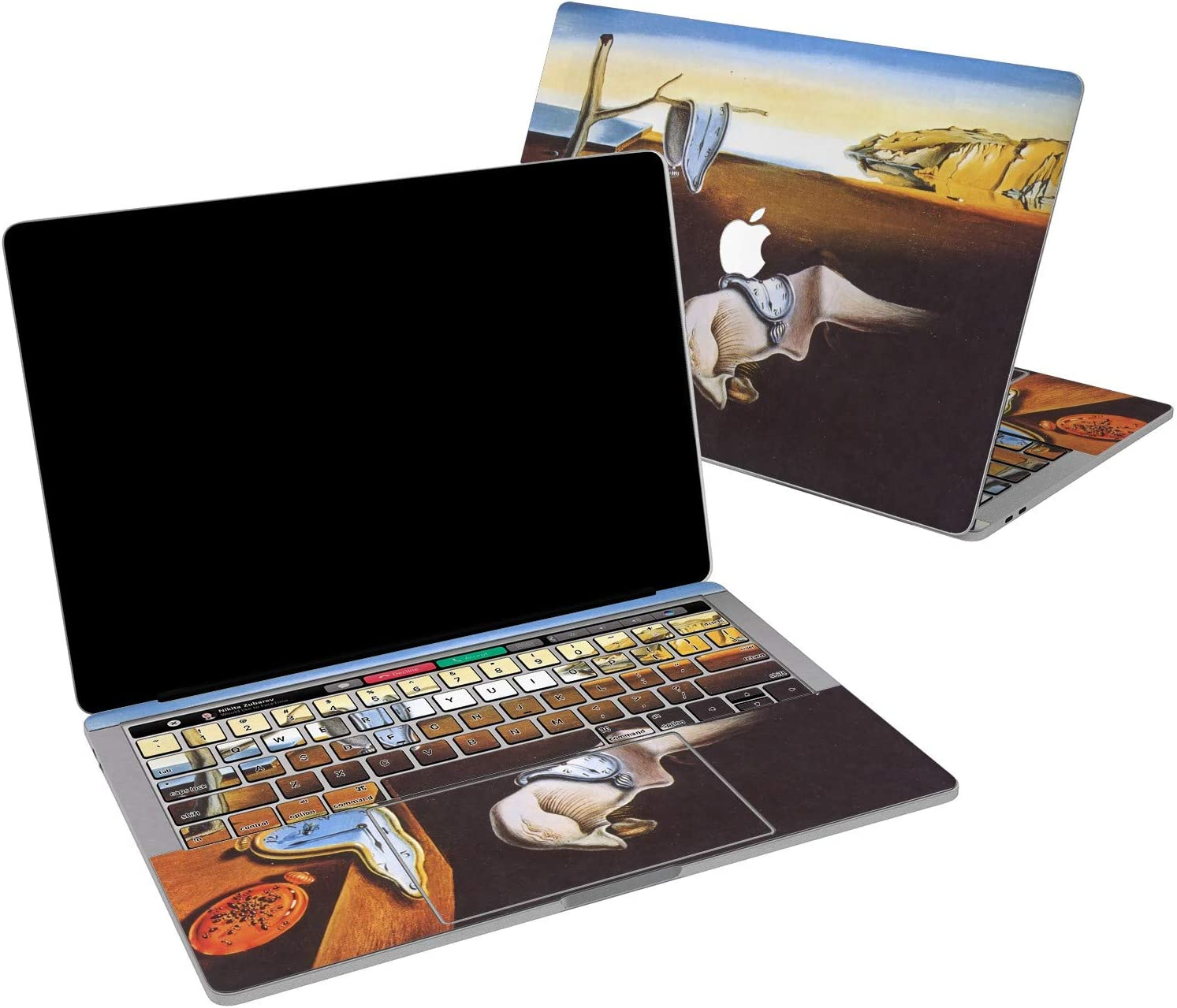 Lex Altern Vinyl Skin for MacBook Air 13 inch Mac Pro 16 15 Retina 12 11 2020 2019 2018 2017 Art The Persistence of Memory Salvador Dali Clock Touch Bar Design Laptop Cover Keyboard Decal Sticker