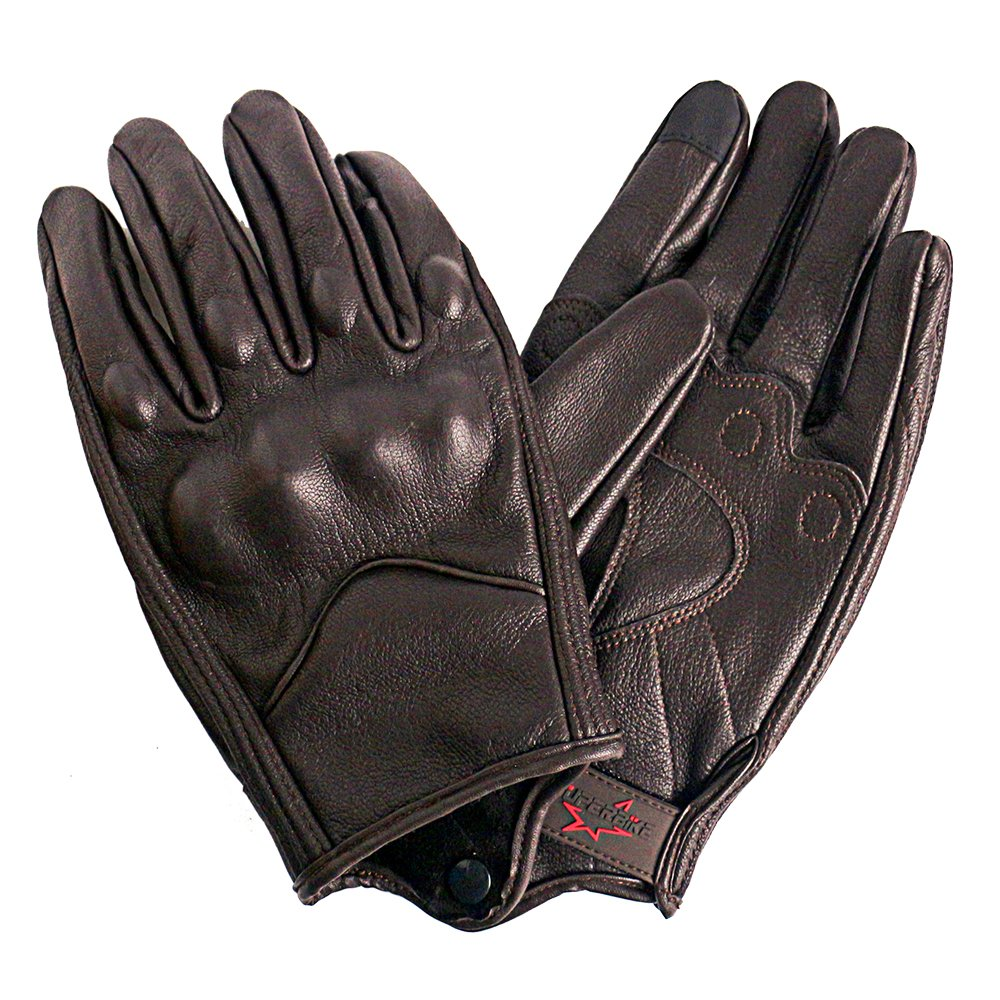 Men/'s Mesh and Leather Motorcycle Gloves With Touchscreen Finger and Knuckle Protector Motor Racing Gloves XXL, Brown,Perforated