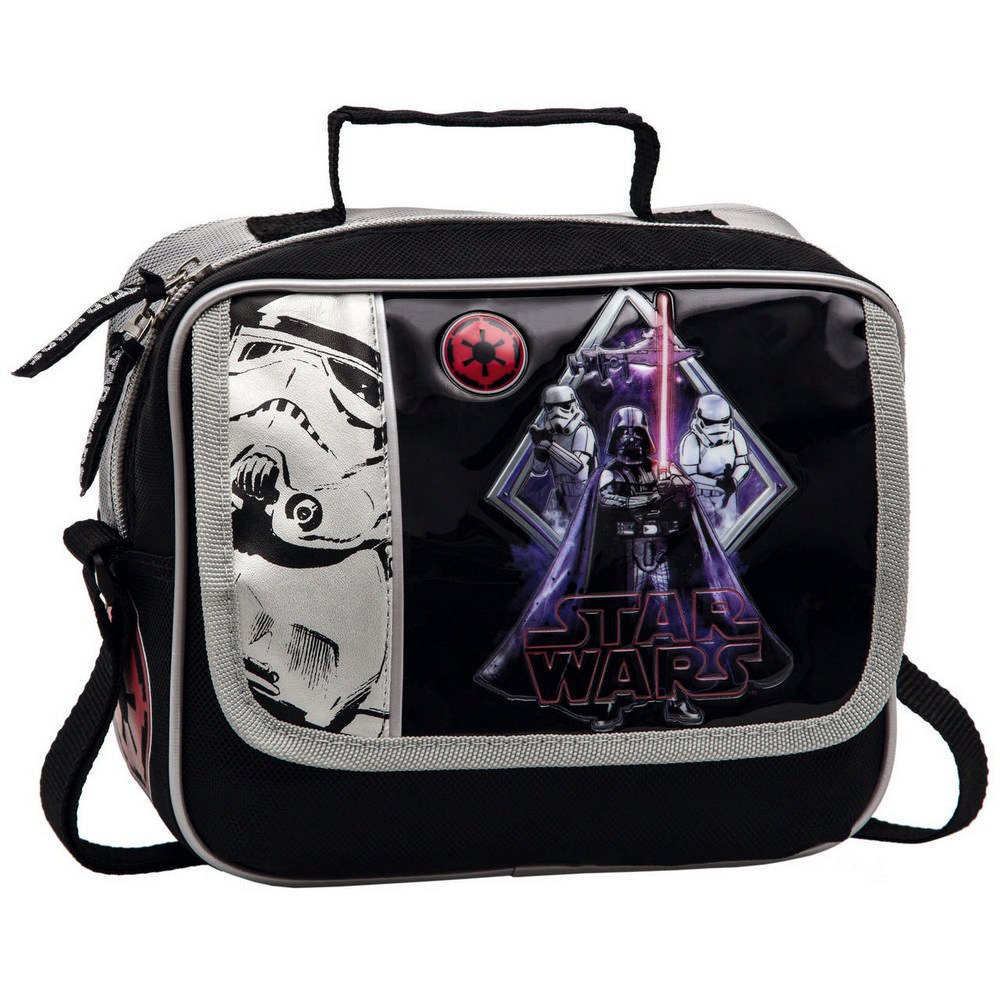 Star Wars Darth Vader Neceser con Bolsillo Frontal Color Negro