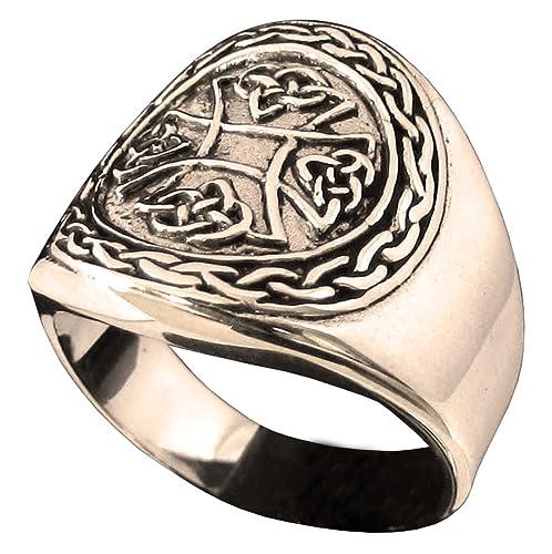 Nudo Celta cruz de hierro anillo en bronce (tamaño H a Z + 3 ...