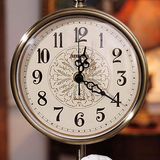 Amazon.com : Family Fireplace Clocks European á Angel Table Clock, Decoration Modern Decorative Bedside Desk Clock ó no Mute Suitable for Bedroom Living ...