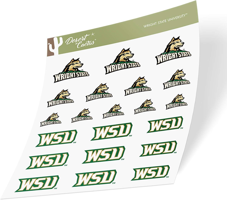 Wright State University WSU Raiders NCAA Sticker Vinyl Decal Laptop Water Bottle Car Scrapbook Type 1-1 Sheet
