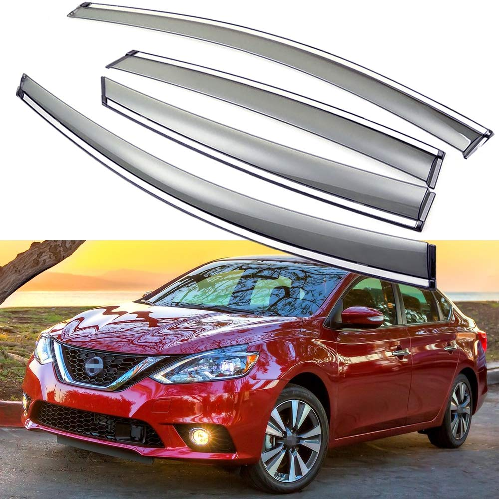 SPEEDLONG 4Pcs Car Window Visor Vent Shade Deflector Sun//Rain Guard for Nissan Sentra 2016 2017 2018 2019 Nissan Sentra 2016-2019