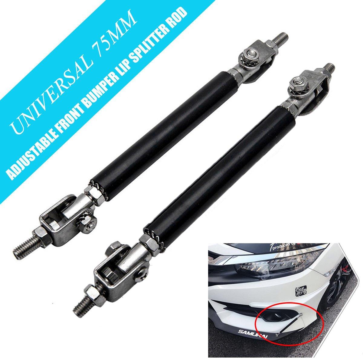 Blue Car Front Bumper MASO 2x Adjustable Car Auto Front Bumper Lip Splitter Rod Strut Tie Bar Support Tool