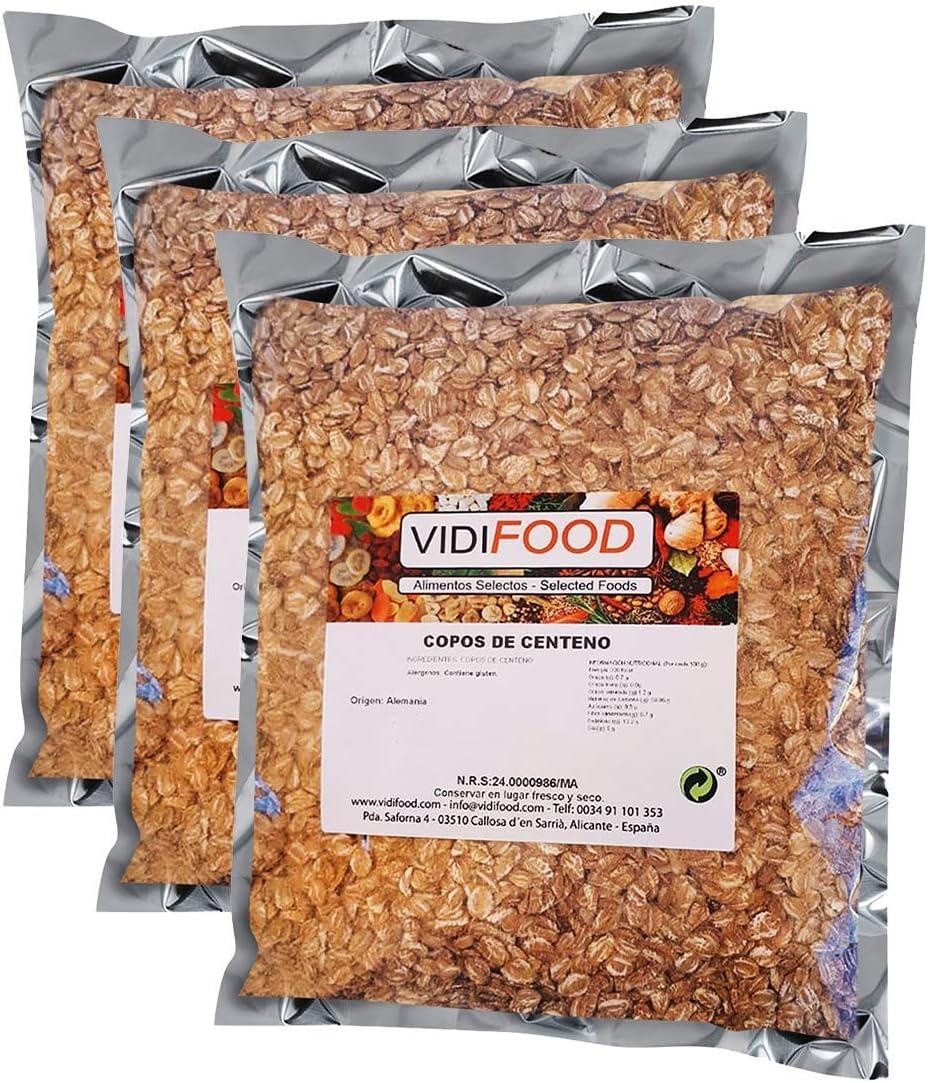 Copos de Centeno Cereales de Salvado Nutritivo Natural - 1 kg: Amazon.es: Alimentación y bebidas