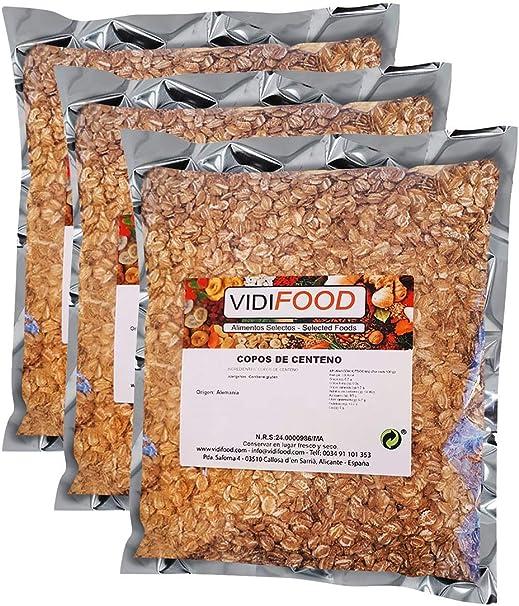 Copos de Centeno - 3kg - Cereales de Salvado Nutritivo Natural ...