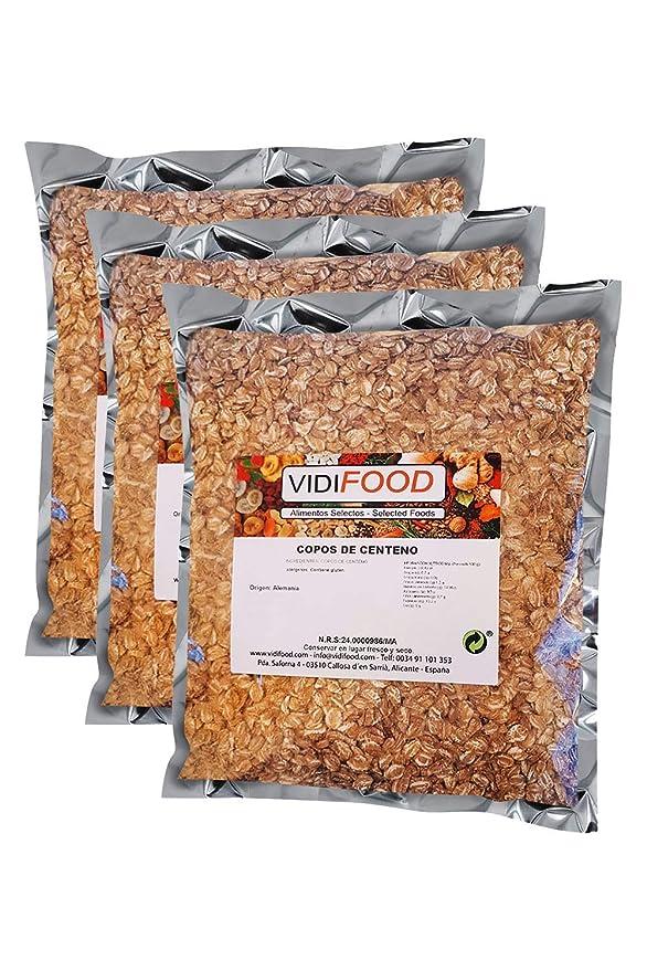 Copos de avena - 1 kg - Rica en nutrientes, vitaminas y minerales - 100% natural y libre de toxinas - Cereal para el desayuno - Fuente deliciosa de ...