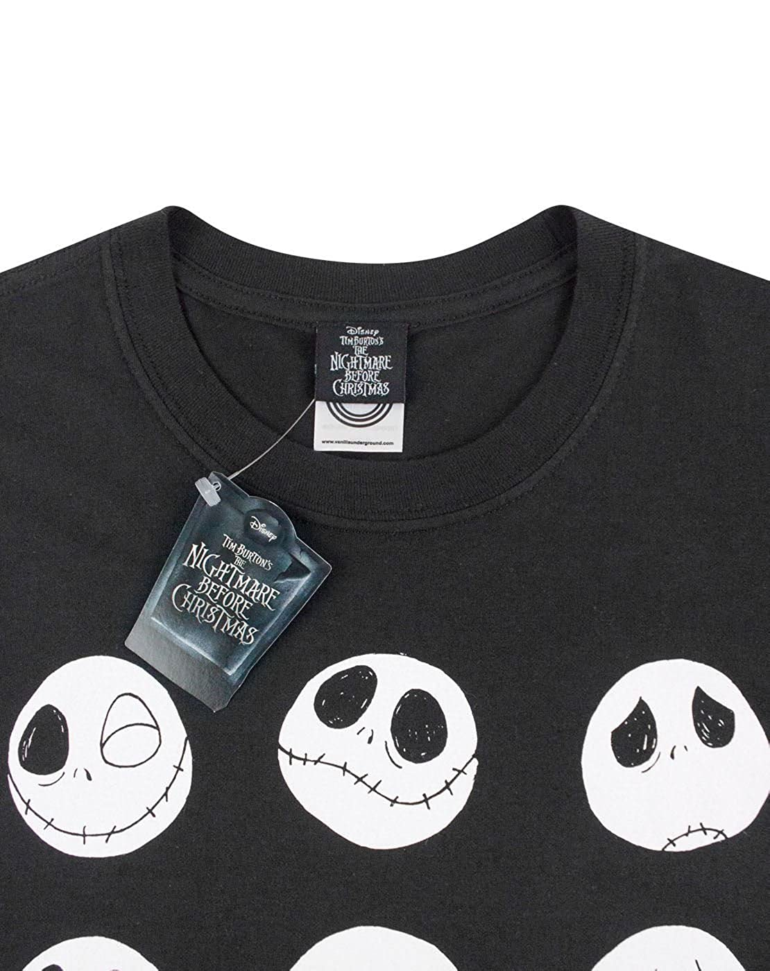 Nightmare Before Christmas Jack Expressions Men\'s T-Shirt: Amazon.co ...