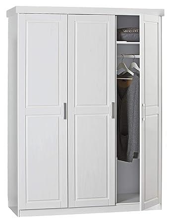 H24living Kleiderschrank Massiv Holz Modern Schlafzimmerschrank