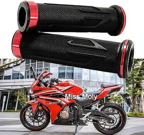 Moto Manubri Alluminio Gomma per CBR Shadow Ninja GSXR YZF 7//8 Motociclo Manopole Rosso