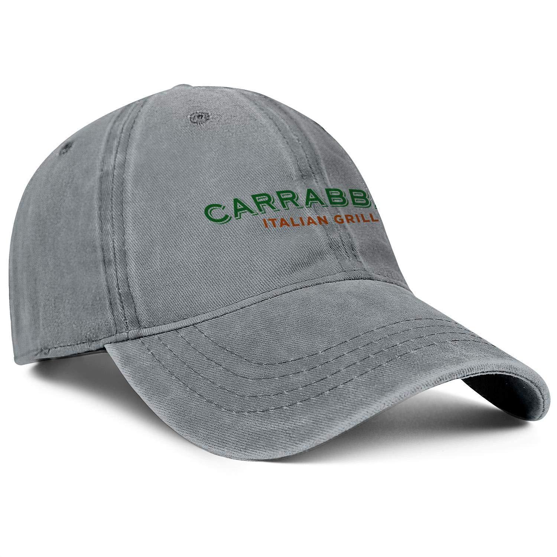 ChenBG Unisex Carrabbas Italian Grill Logo Adjustble Baseball Cap Gas Cap All Cotton Cowboy Hat